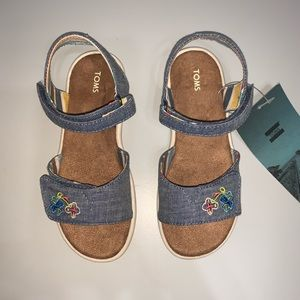 TOMS Chambray Sandals with Straps